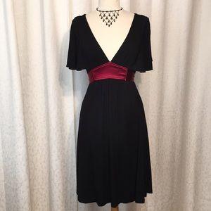 Bebe sexy black and scarlet stretch knit dress